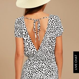 Backless Lulu's Romper with pockets